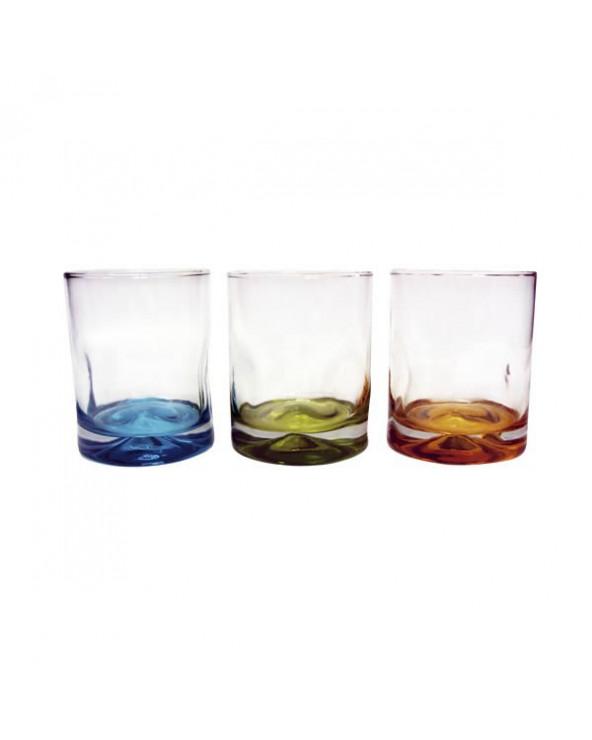 Crisa set de 3 vasos cortos con base color Impressions CR07334