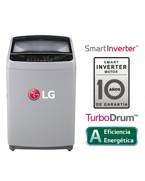 LG LAVADORA CARGA SUPERIOR 16KG TS1605NS CON SMART MOTION - GRIS