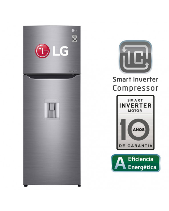 LG REFRIGERADORA TOP FREEZER 312L GT32WPPDC CON LINEAR COOLING - PLATEADA