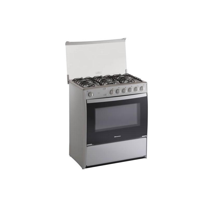 Indurama cocina verona quarzo de 6 quemadores for Cocina 6 quemadores