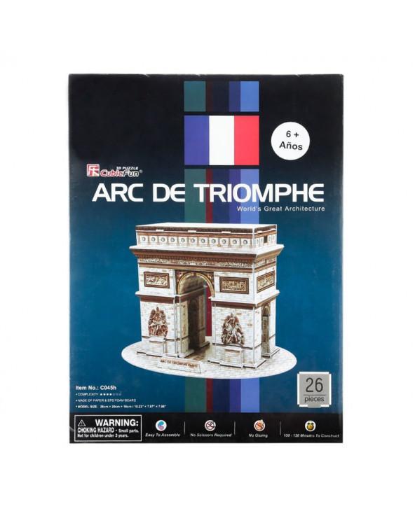 Cubic Fun Rompecabezas 3D Arc de Triomphe de 26 Piezas