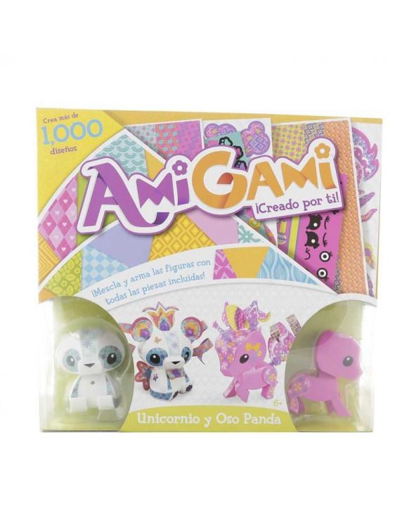 Mattel Set de Mascotas Amigami Unicornio y Oso Panda