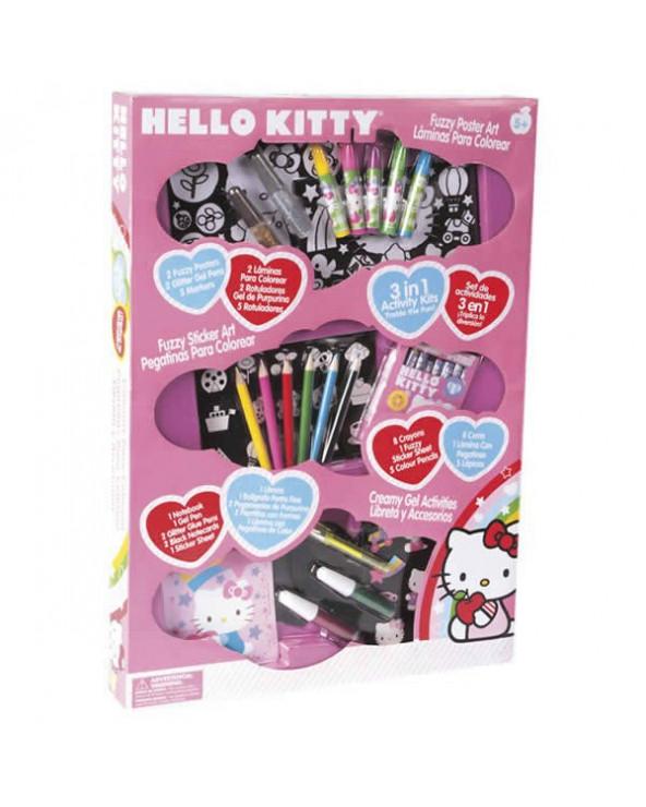 Hello Kitty Set de Juego Lápices, Colores y Goma