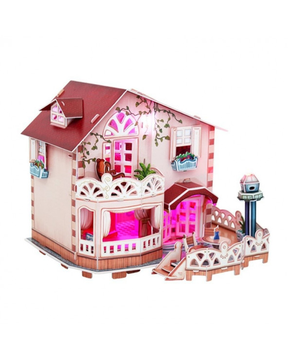 Cubic Fun Holiday Bungalow Dollhouse P634H 114 piezas