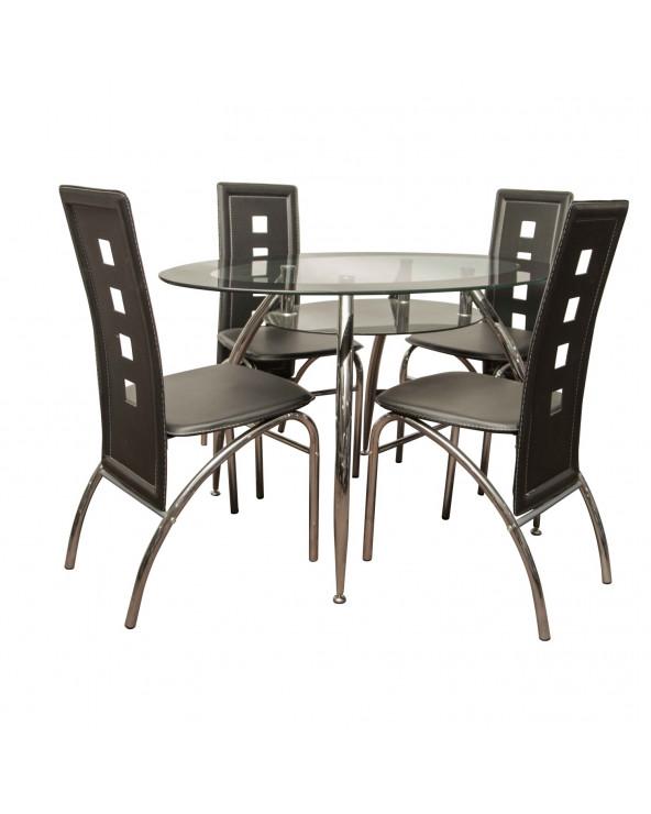 Comedor de vidrio + 4 sillas