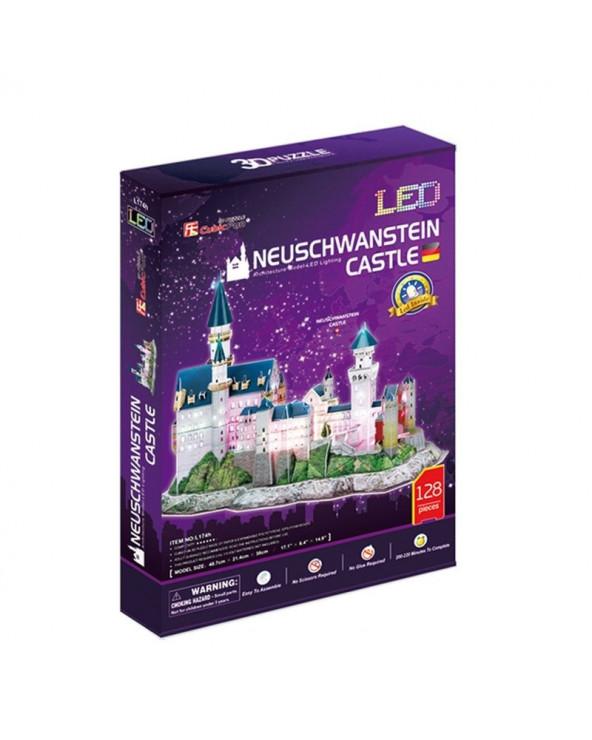 Cubic Fun Rompecabezas 3DLed Lighting Castillo de Neuschwanstein L174H 128 piezas