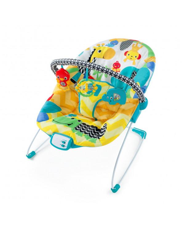 Bright Starts silla nido vibradora Safari Smiles 60390