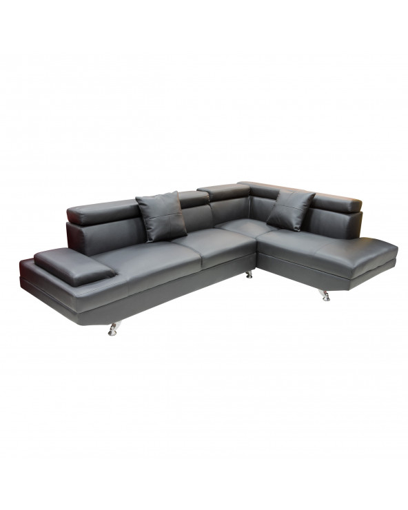 Familia seccional Sofa Set black