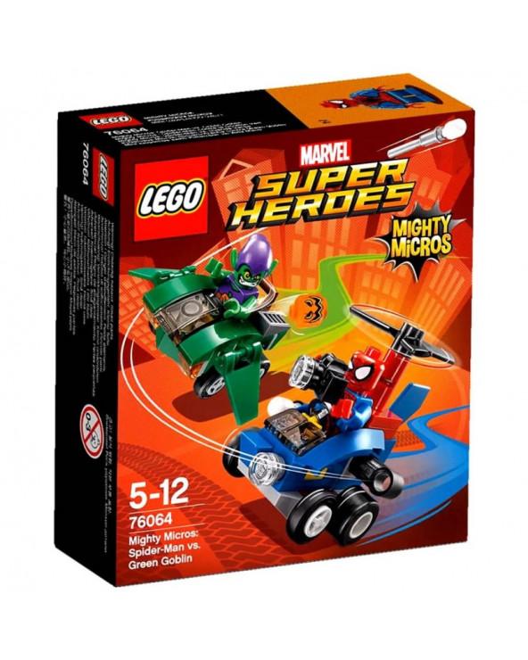 Lego super heroes mighty micros: spiderman vs. duende verde 76064