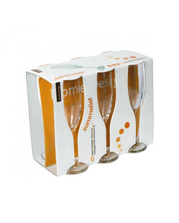 Home Design juego de 6 copas de champagne Sommelier TE08534