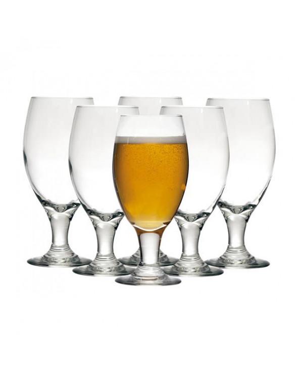 Libbey Juego de 6 Copas Cerveceras Belgian CR03915. 436 ml