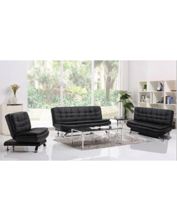 Familia Sofa Bed 3-2-1 Black
