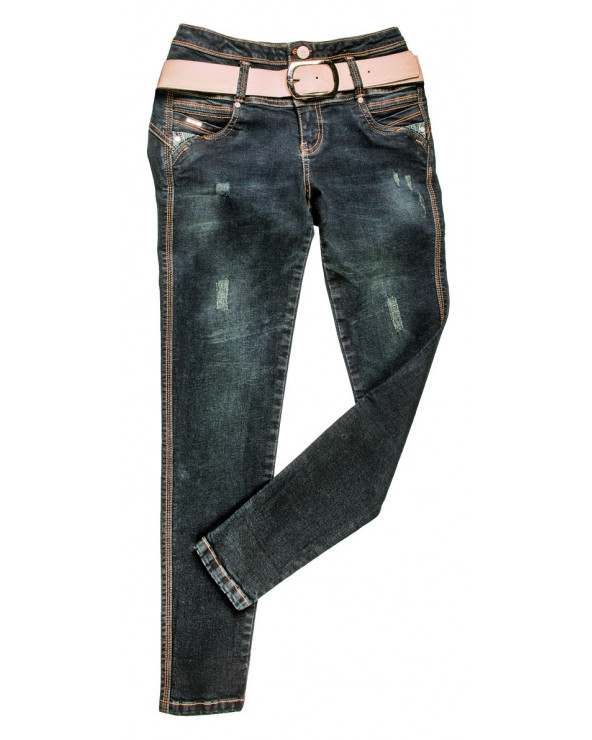 Metal Pant Denim Olivia