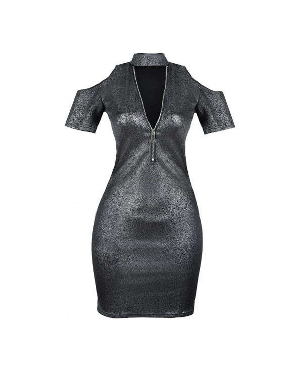 Priority Vestido Dress Rhea Metal Black