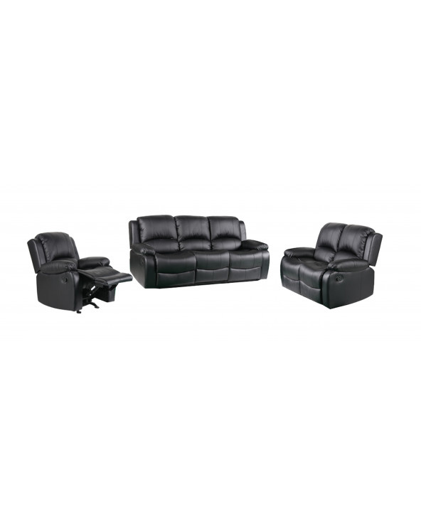 Familia sillon reclinable Berlin 3-2-1 Black