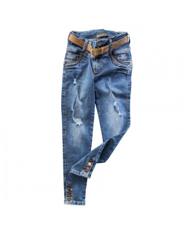 Metal Pant Denim Dama Alcira