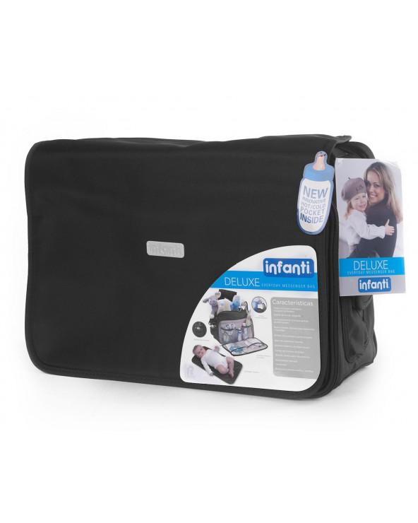 Infanti bolso pañalero deluxe Messenger Black 0121600425N