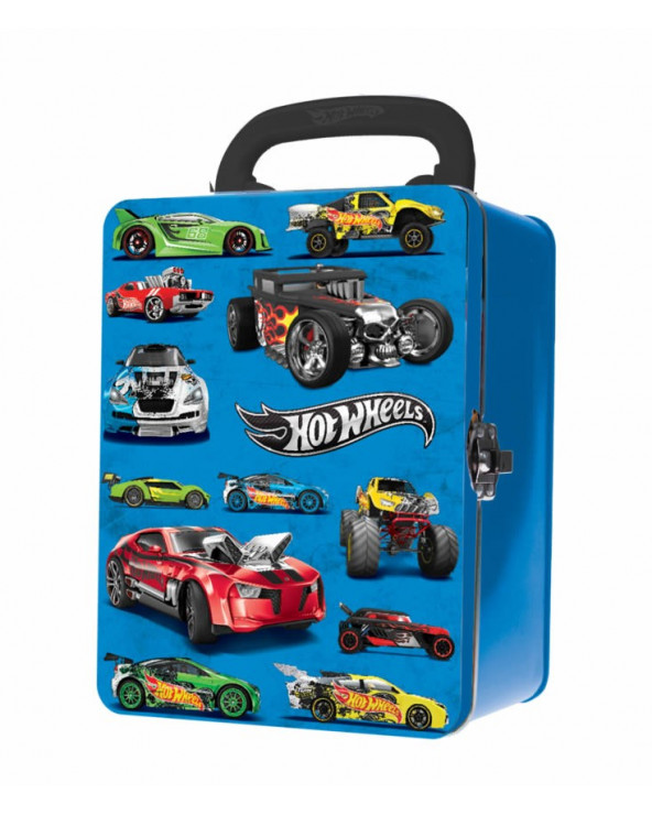 Hot Wheels Estuche Metalico Para 18 Carritos HWCC2