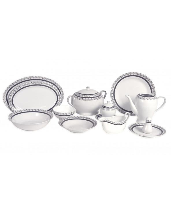 Familia Set de Vajilla de Porcelana Lx-14004 Silver Decal