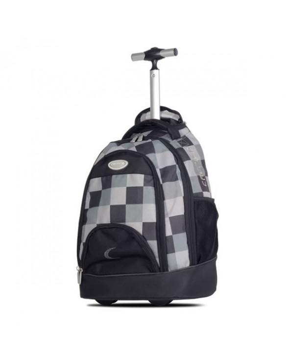 Crepier mochila con ruedas Beat negro/corazones fucsia