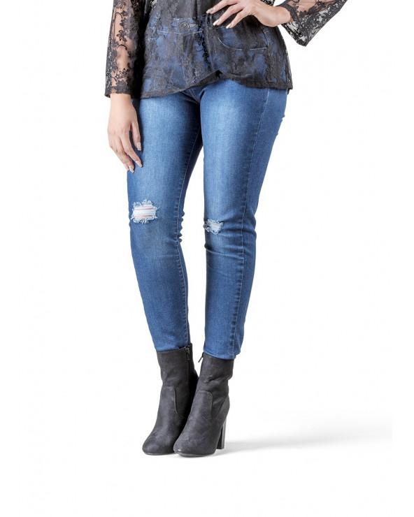 Kathie Lu Jeans Puch Lavado