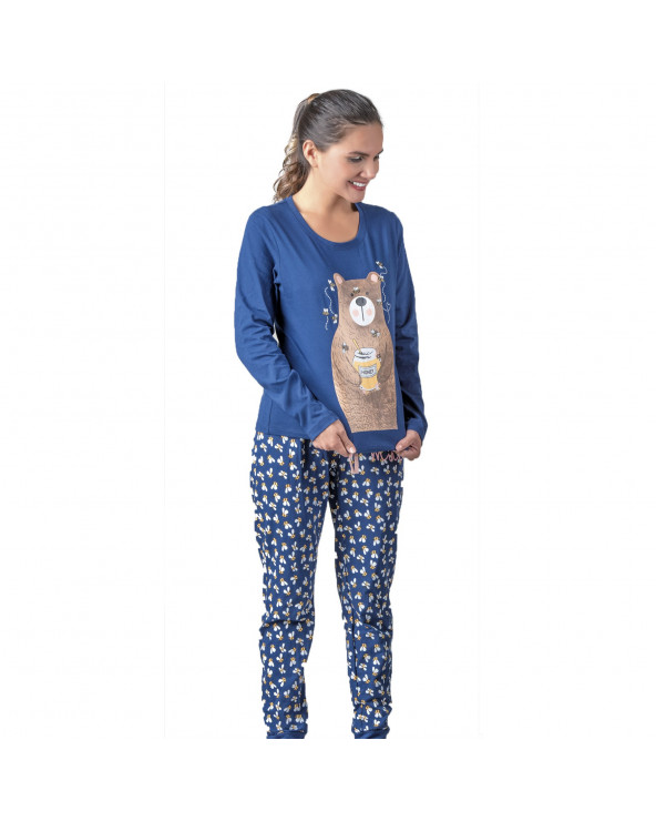 Ousadia Pijama Bee Bear Azul