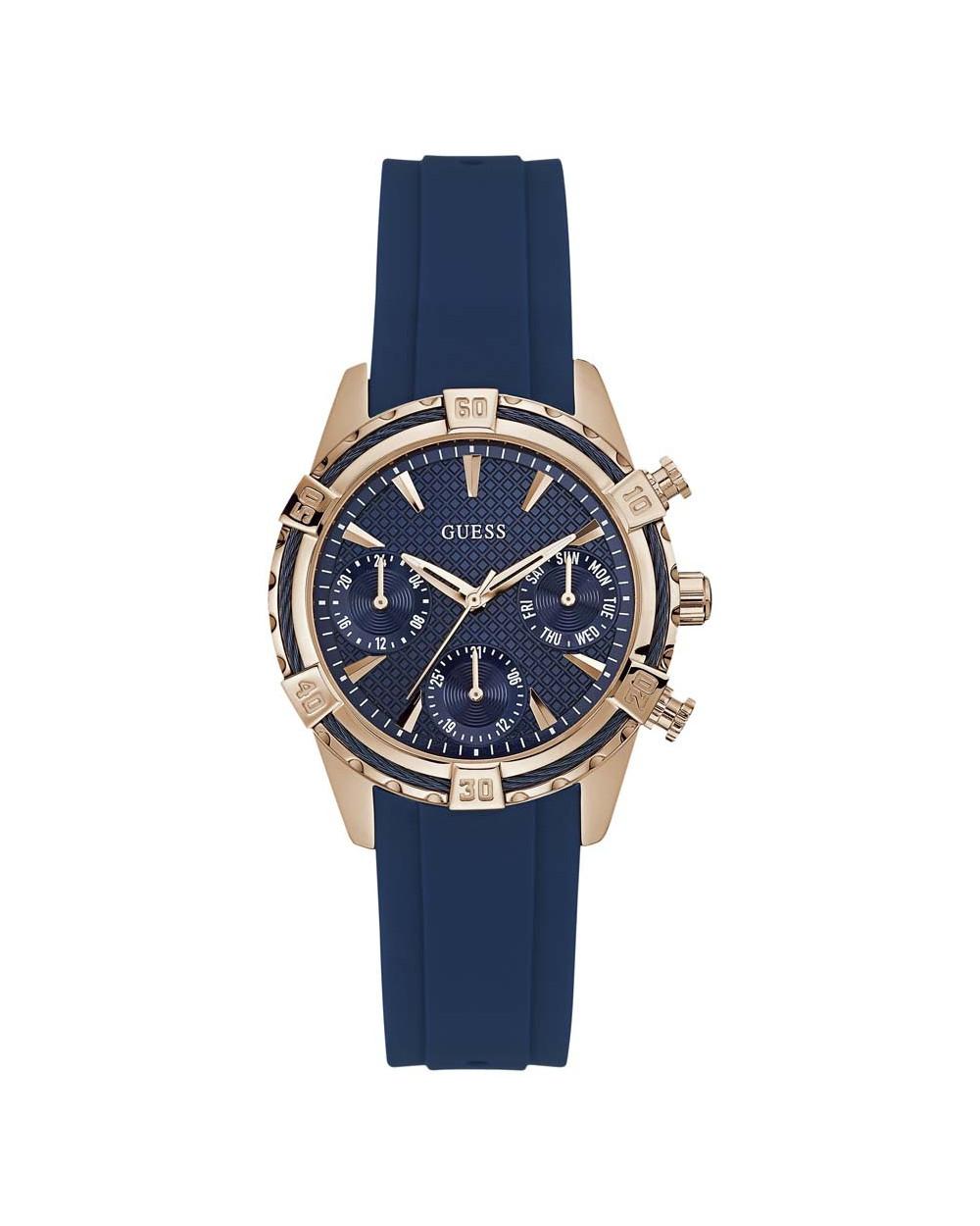 f07aa4f2d1f4 Guess Reloj de Dama W0562L3 Rose Gold Azul Características