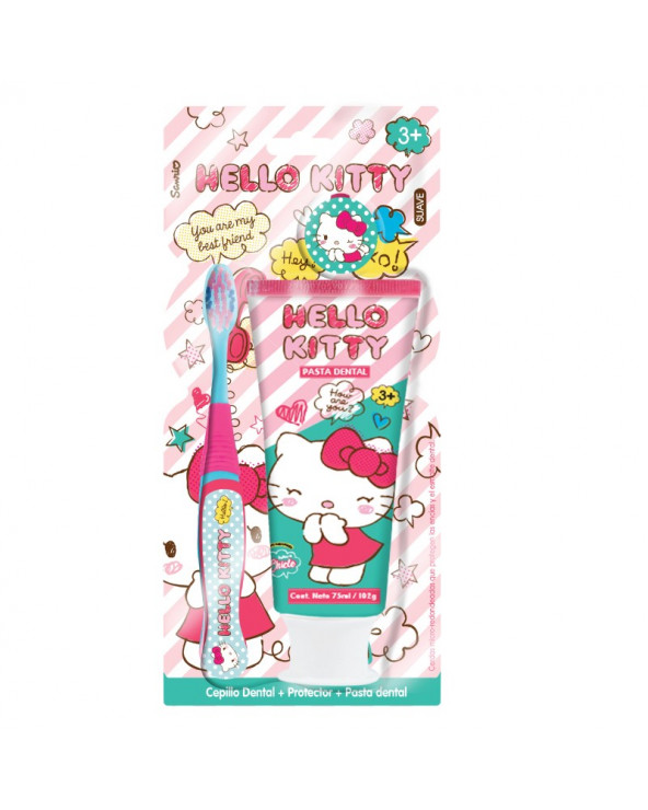 Hello Kitty Cepillo Dental 360 + Pasta + Cartuchera