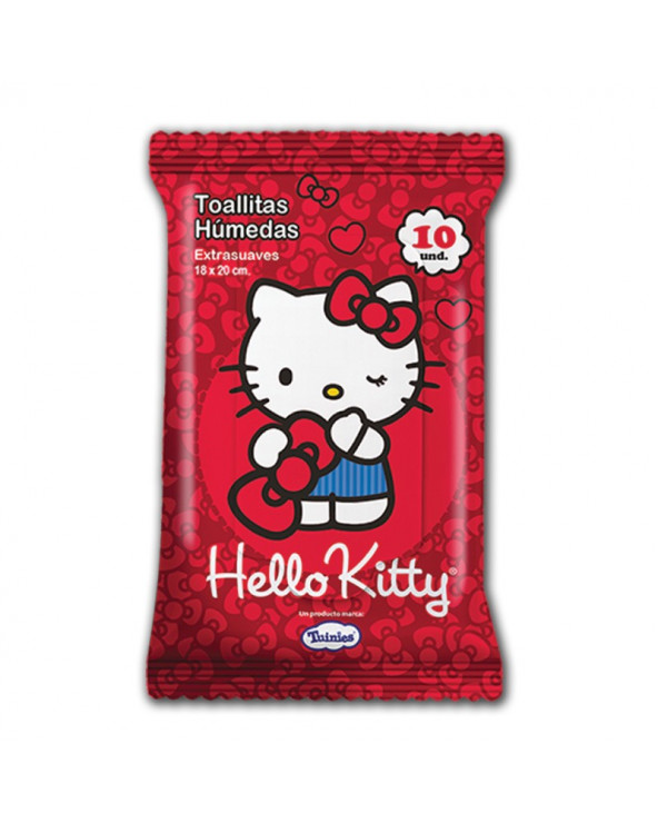 Hello Kitty Tohallas Húmedas x 10