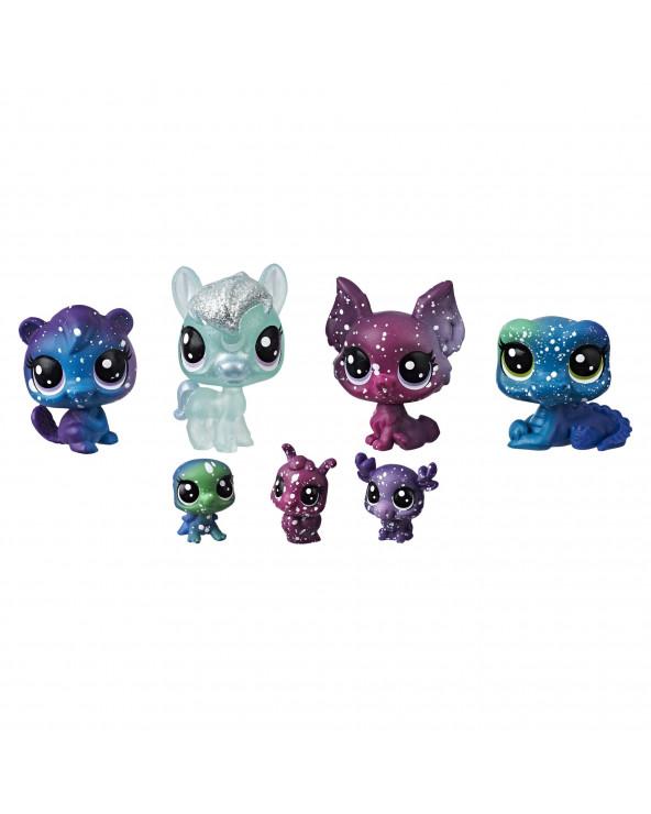 Little Pets Shop Colección Cosmic Pack 7 Mascotas
