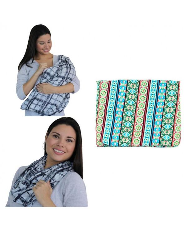 Maternelle Pashmina Cobertor De Lactancia 2 En 1 Diseño 1 MAT-48 Verde
