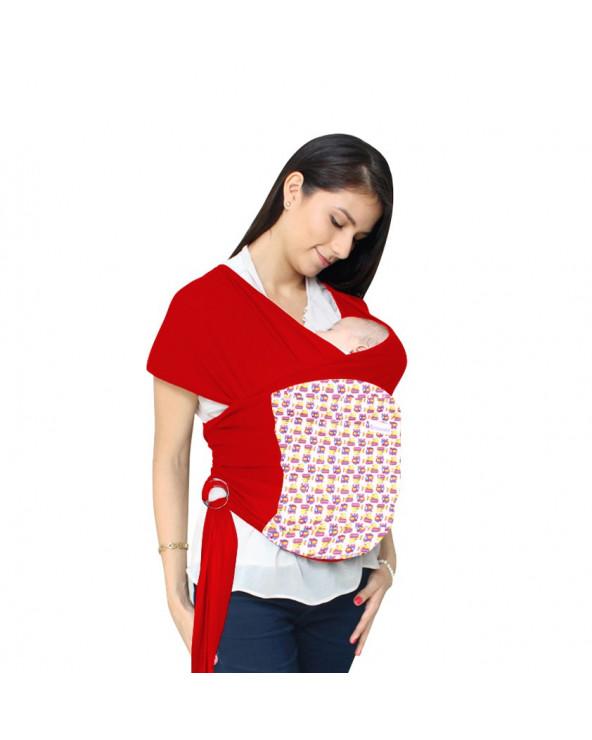 Maternelle Fular ergonómico Regulable Diseño 1 MAT-53 Rojo