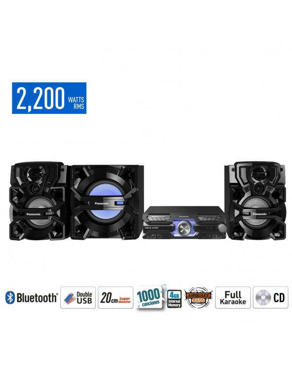 Panasonic Minicomponente SC-AKX910PUK Negro 2200W