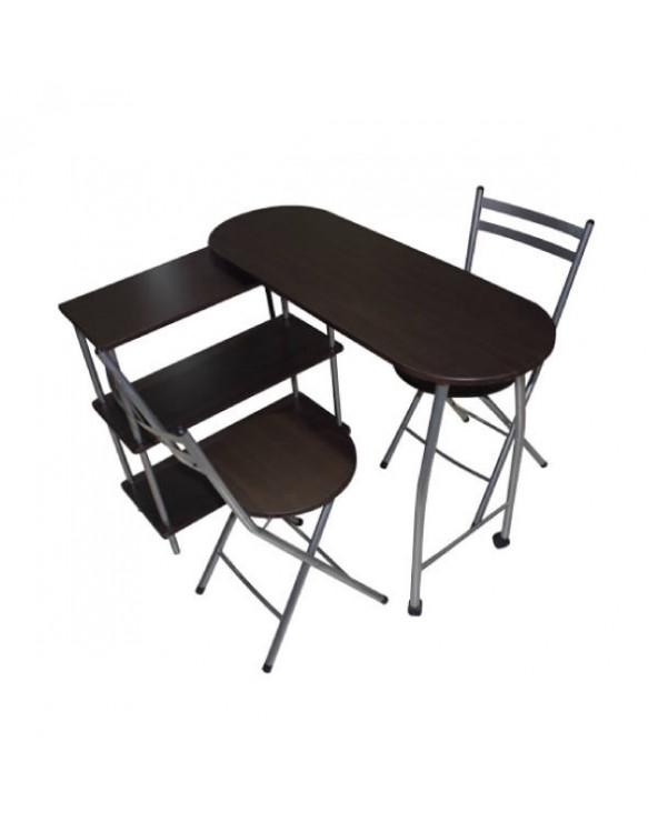 Familia juego de comedor de 2 sillas JX-06A155