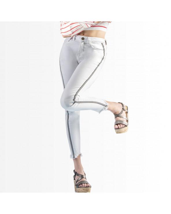 Q´Cool  Jean White Stripes