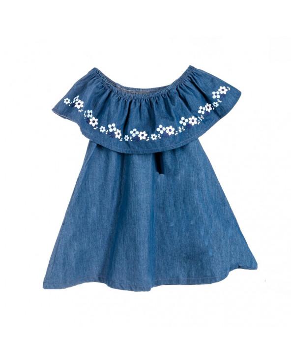 F. twist Blusa vestido niña Sun Taylor Azul
