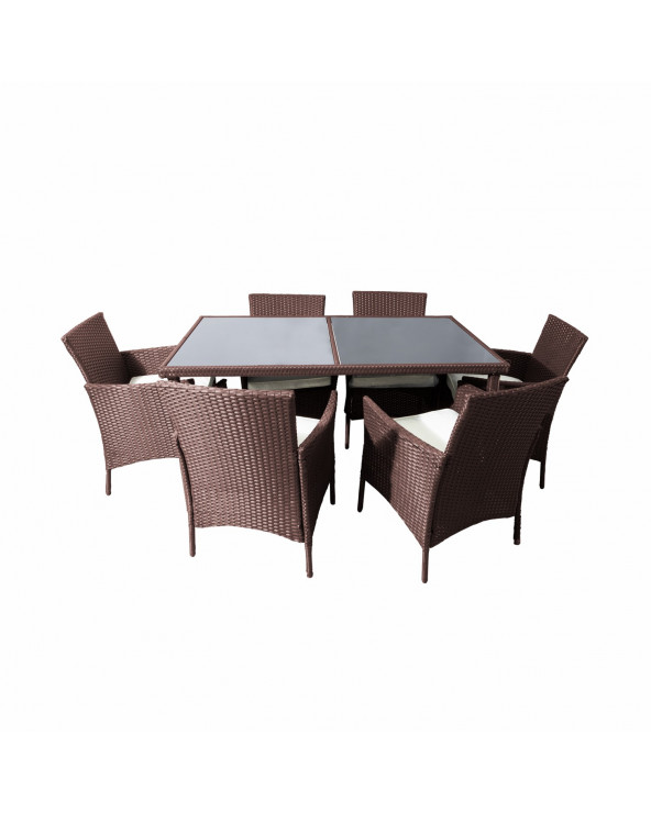Familia Set de Comedor San Marino 7 PC Brown HIH-316