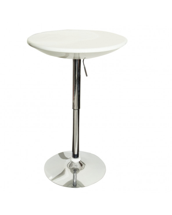 Familia Mesa de Bar HC-142. Color Blanco con Base