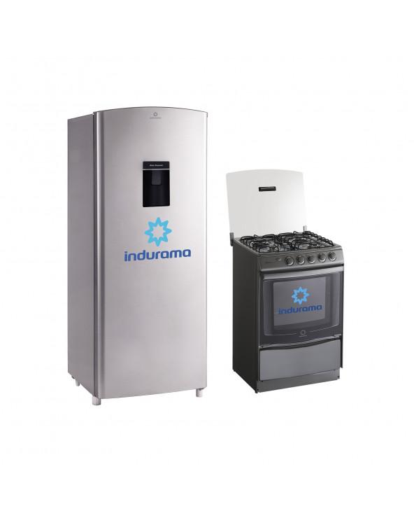Indurama Combo cocina coruña + Refrigerador RI-279D