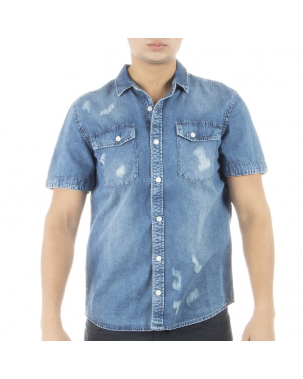 Mechanic Camisa Hombre M/C Denim Star