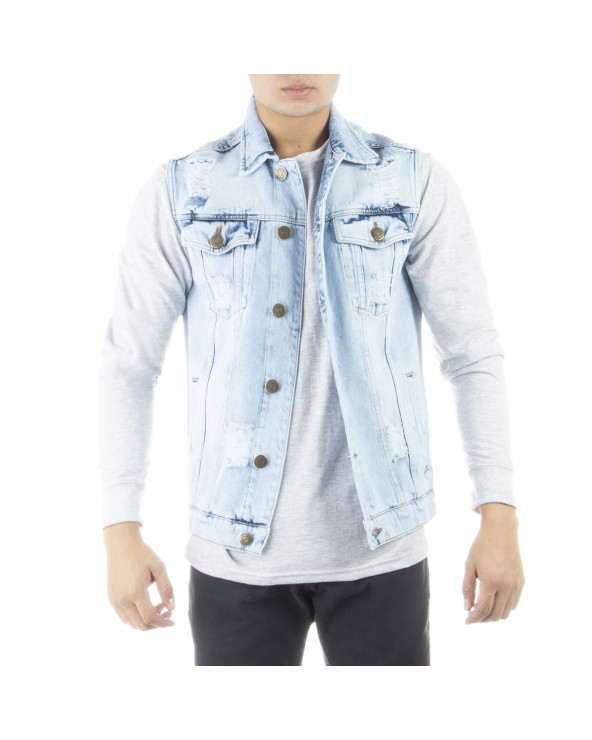 Mechanic Chaleco Hombre PP Full Denim