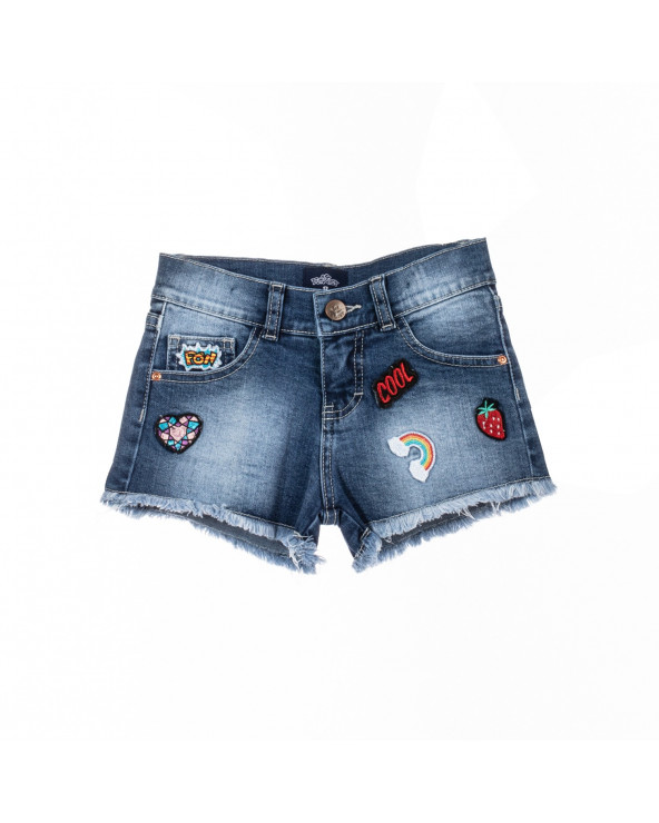 F. Twist Short Niña Denim Basic Talia