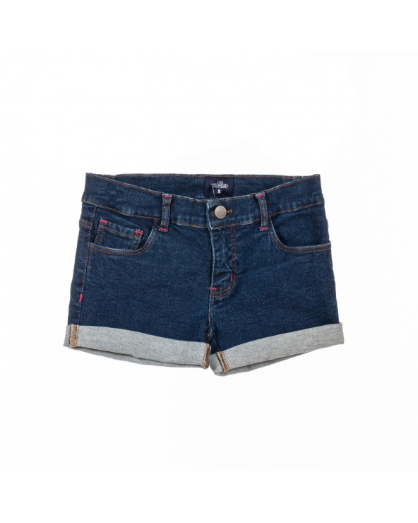F. Twist Short Denim Niña Basic Talia Azul