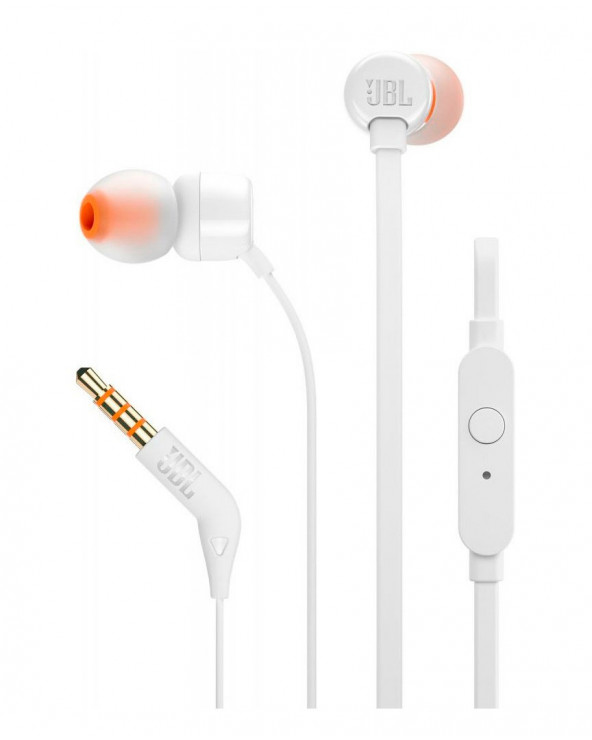 JBL Audifono T110 IN EAR White