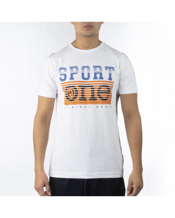 One Athletic Graphic T-Shirt Rep Bsc Blanco M