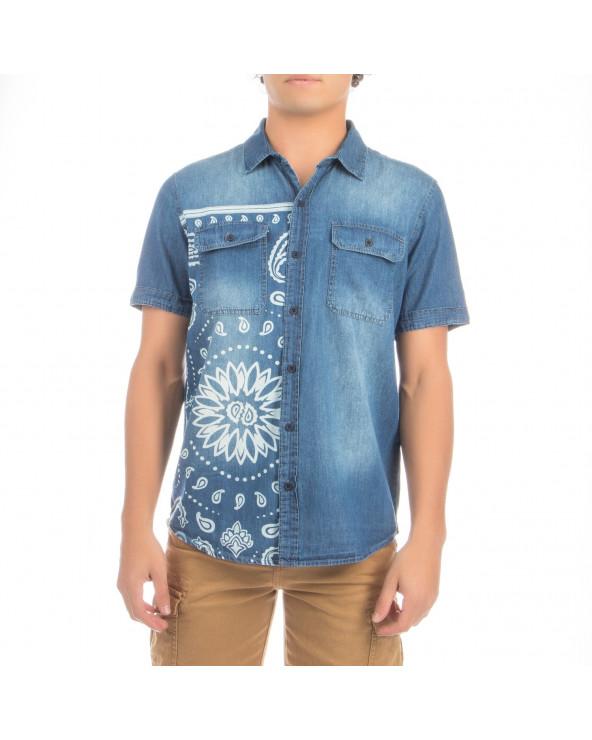 XTRMZ Camisa PP Denim Print...
