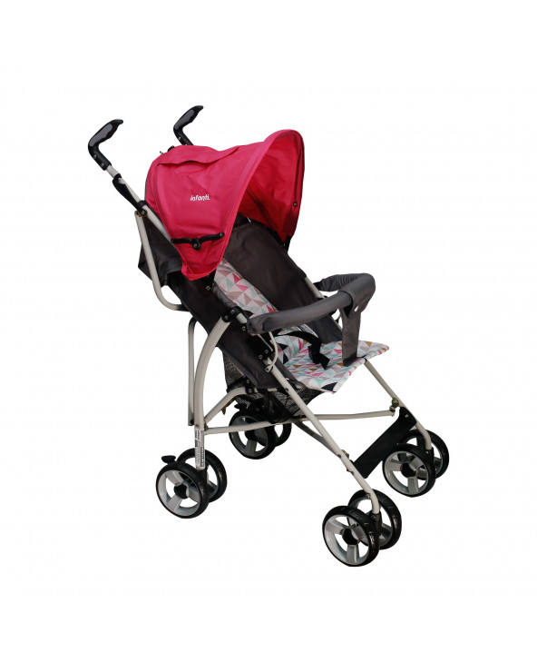Infanti Coche Bastón Spin Triangles Pink H108