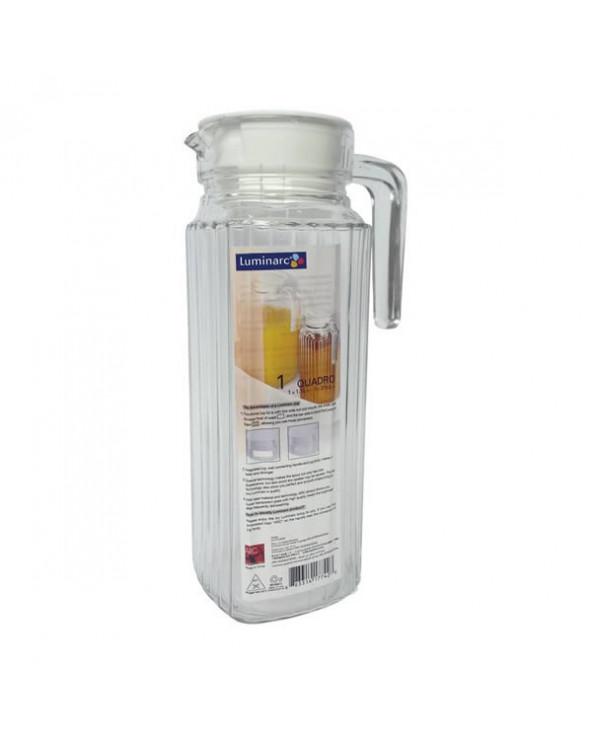 Luminarc Jarra Quadro 1,1 litros con tapa. DT10G2666