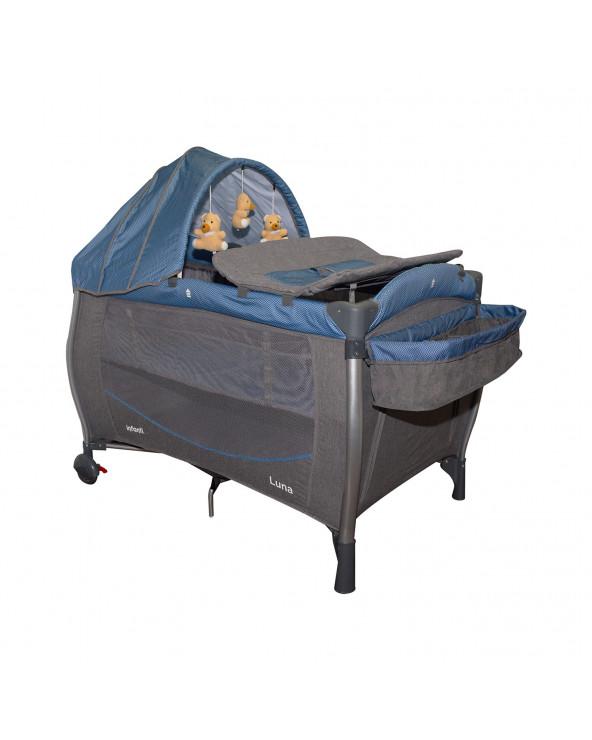 Infanti Corral Cuna Luna ZigZag Blue KDD-991