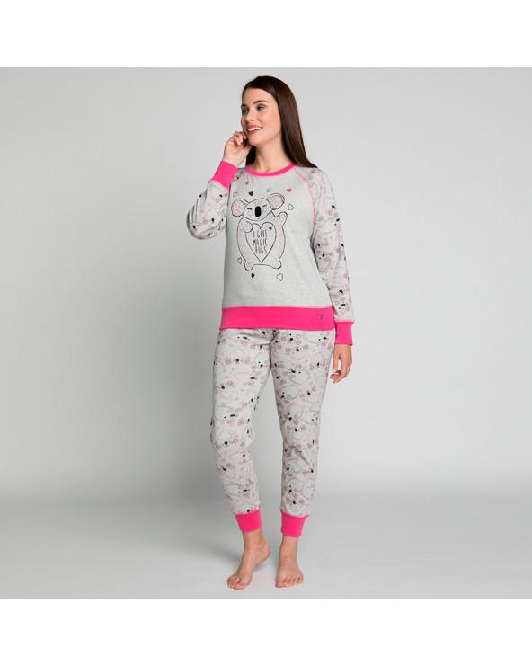 KAYSER Pijama Dama Algodón 60.1181 Gris